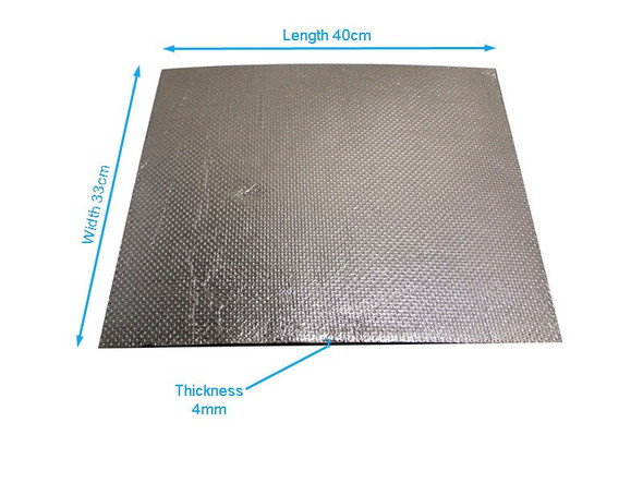 2 x Exhaust Heat Shield Sheet - 40cm x 33cm for Motorbike, Race Bike, Trike, Quad - Reflective & Self-Adhesive