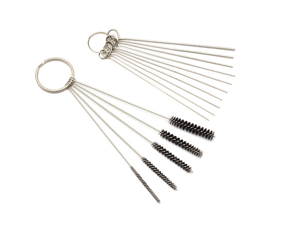 Carburettor Carbon Dirt Jet Cleaning Tools Kit Cleaner Set Needles Nylon Brushes