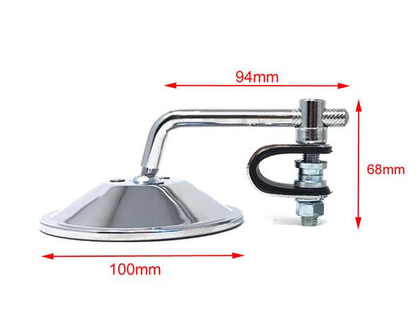 """Single Chrome Mirror - LEFT or RIGHT SIDE - for 22mm (7/8"""") & 25mm (1"""") Handlebars"""