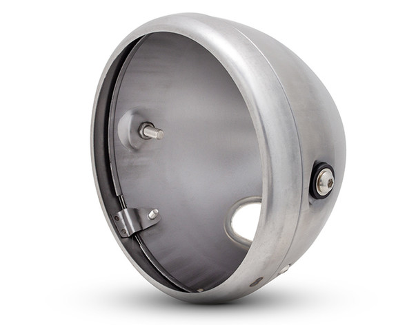 """7.7"""" Headlight Housing Bucket with Bezel for Retro Cafe Racer Project"""