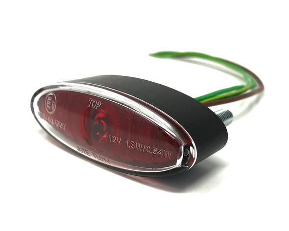 Mini Stop Tail Light LED for Project Motorcycles & Scooters - Red Lens
