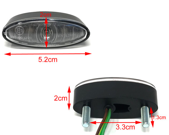 Mini Stop Tail Light LED for Project Motorcycles & Scooters - Clear Lens