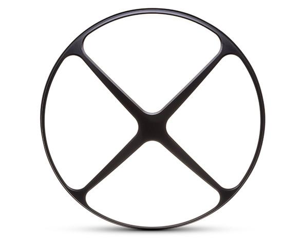 "Cross Design 7"" INCH Motorbike Headlight Cover Guard ALL BLACK for Cafe Racer Scrambler Project Retro"
