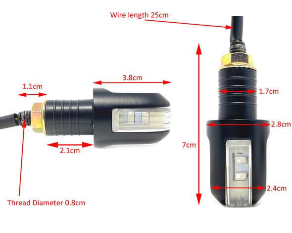 "LED Indicators 22mm 7/8"" Handlebar End Streetfighter Cafe Racer PAIR"