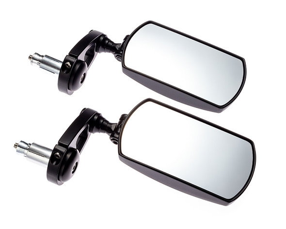 """Motorbike Mirrors Bar End Fold In Up Away Rectangular Rear Side View 7/8"""" 22mm"""