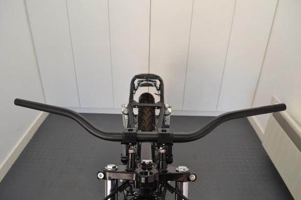BLACK Tapered Alloy 28mm Fat Bars Motocross Streetfighter Supermoto Scrambler