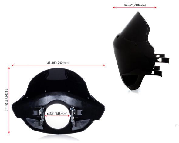 Sport Fairing Windshield Kit Short Screen for Harley-Davidson Sportster & Dyna Models