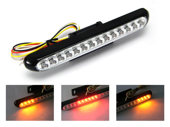 BLACK LED Stop / Tail Light with Integrated Indicators
