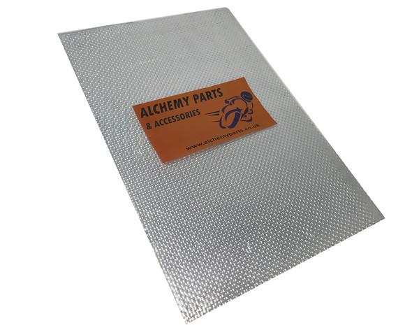 Self-Adhesive Aluminium Reflective Exhaust Heat Shield Sheet - 100cm x 33cm for Motorcycle Motorbike / Race Bike Trike Quad