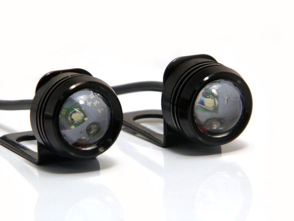 Pair of White Projector 3W CREE LED Daytime Running Lights DRL for Motorcycles Motorbikes Scooters Quads Trikes Cars