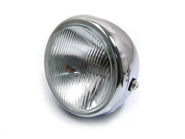 "6 3/4"" Classic Retro Chrome Steel Headlight"