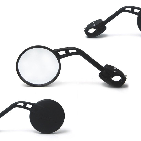 "RIGHT SIDE Single Round Motorbike Mirror For 22mm 7/8"" Handlebars"