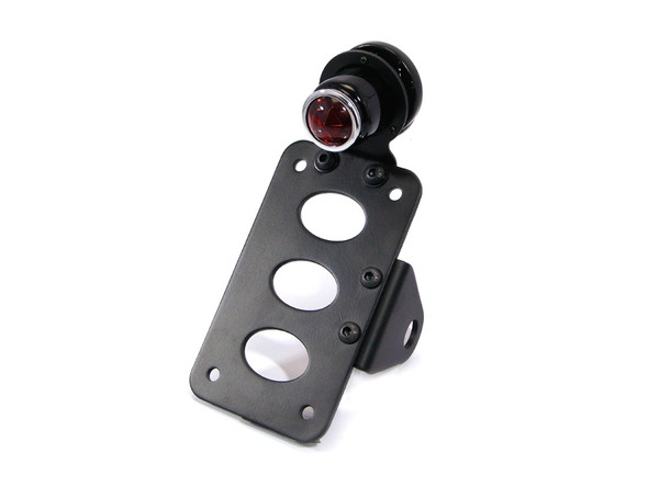 Retro Side Mount Motorcycle Motorbike Stop / Tail Light with License Plate / Number Plate Holder Bracket