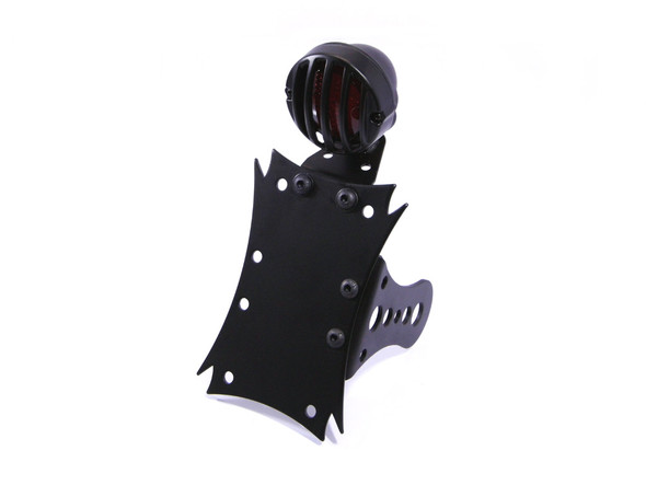 Side Mount Prison Style Motorbike Motorcycle Tail Light & Number / License Plate Holder