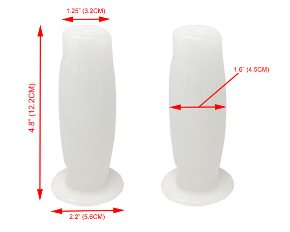 "Quailty White Barrel Style 7/8"" 22mm Handgrips Cafe Racers & Street Scramblers"