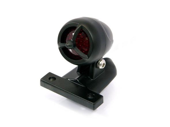 Black Torpedo Style LED Stop & Tail Light Custom Project Motorcycle Motorbike