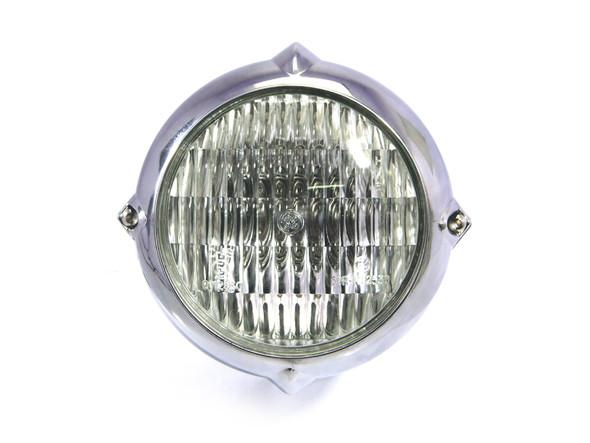 "5.5"" 12V / 35W Bottom Mount Polished Headlight for Motorcycles"