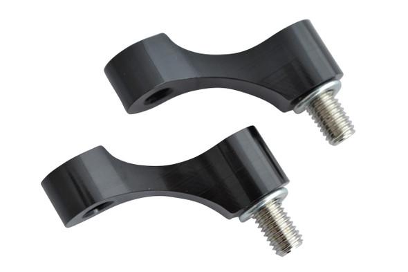 Pair of CNC Machined Billet Aluminium M8 Left & Right Thread Motorbike & Scooter Mirror Risers Extenders