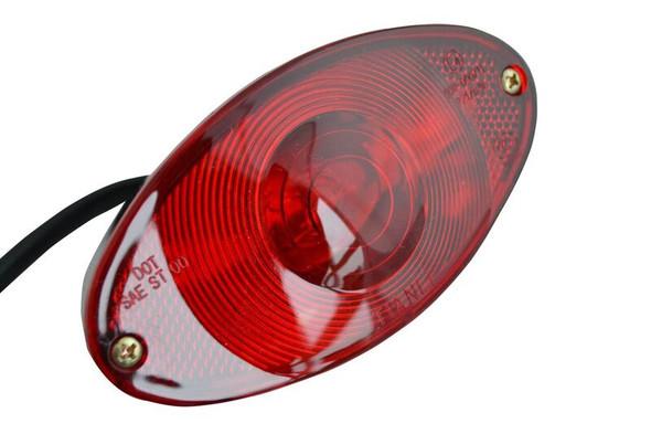 Oval BLACK Custom Stop Tail Rear Light for Motorbike Monkey Bike Trike Chopper
