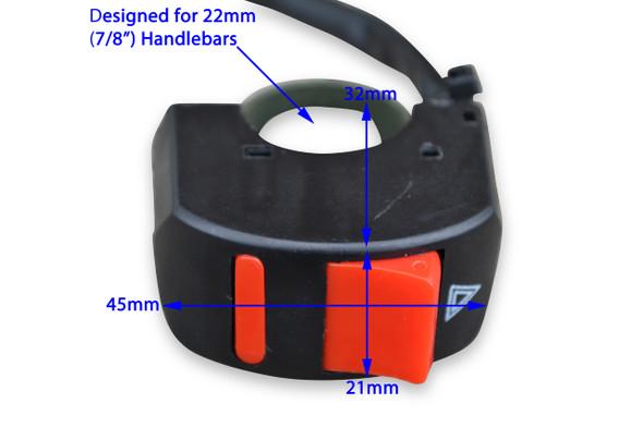 "Good Quality Hazard Warning Light for 22mm 7/8"" Handlebars for Motorcycles Motorbikes Trikes & Quads"