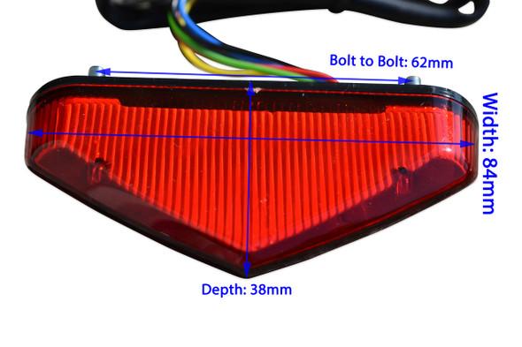 Small Mini Red Lens Stop Light Tail Light Indicators Enduro Streetfigher Sports Motorbike