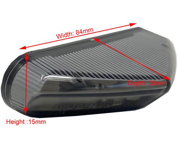 Small Mini Smoked Lens Stop Light Tail Light Indicators Enduro Streetfigher Sports Motorbike
