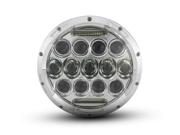 """7"""" 75W Chrome Multi Projector LED Headlight Insert with Daytime Running Lights"""