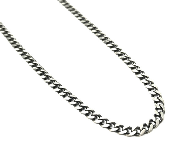 Men's Oxidised Sterling Silver Necklace Chain - 51 cm