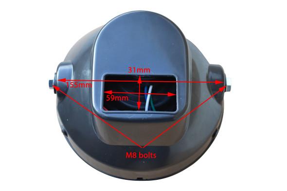 7 inch 12V 35W Motorbike Custom Headlight with Built In LED Indicators & Fork Brackets