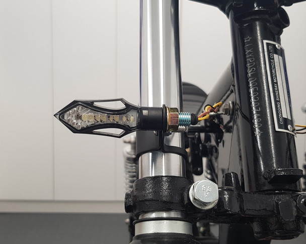 Motorbike LED Front Indicators with Integrated Daytime Running Lights DRL