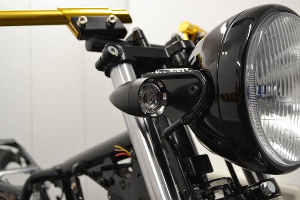 Motorbike LED Indicators & DRL + Integrated Stop Taillight Retro Custom SET OF 4