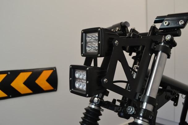 Dual Stacked LED Headlight Motorbike Motorcycle Streetfighter Project (size options available)