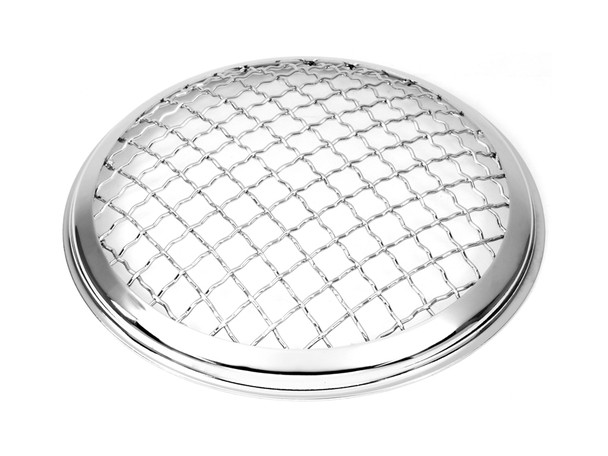 """5.75"""" Inch Mesh Grill Motorbike Headlight Cover - Chrome for Scrambler & Cafe Racer Projects"""