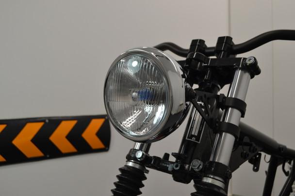 "6"" Motorbike Chrome Headlight for Vintage Retro Scrambler Project Brat Bike"