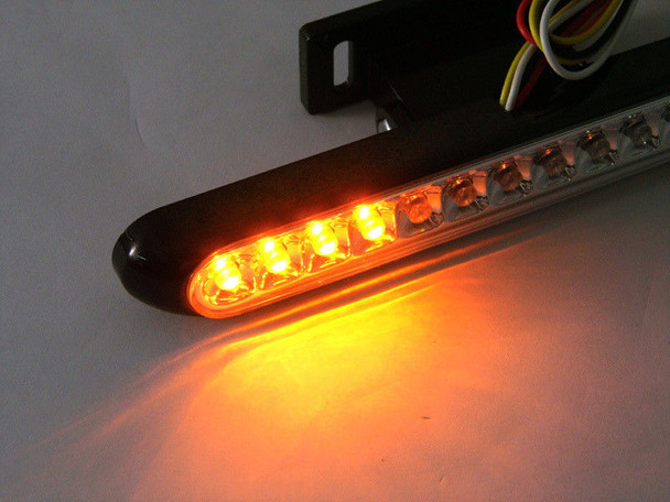 BLACK Pair of LED Stoplights Taillights with Integrated Indicators