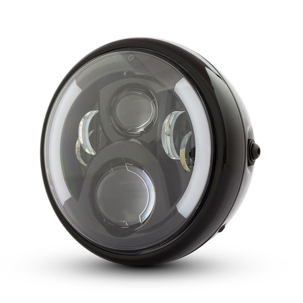 "7.7"" LED Headlight with Integrated DRL & Indicators - High Quality"