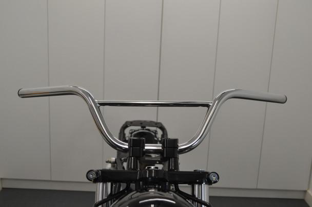 """Chrome Handlebars for Monkey Bike Pit Bike - 22mm 7/8"""" with 4.5"""" Rise"""