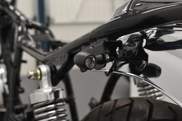 2 PAIRS of High Quality Matt Black Mini Micro CREE LED Motorcycle Motorbike Retro Indicators