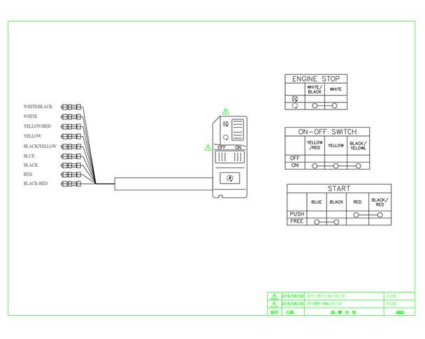 """Headlight Kill Starter Switch Cluster for 22mm 7/8"""" Handlebars"""