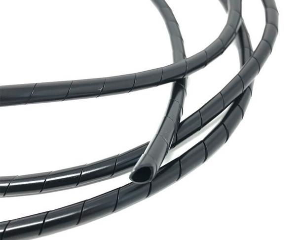 Motorbike Cable Cover Black Thin Spiral Wire Wrap 6mm x 1.5m Long Trike Quad ATV