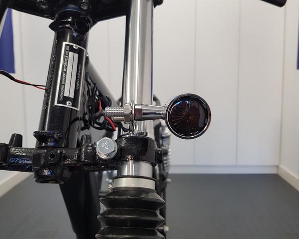 Drilled Motorbike Indicators for Retro Custom HOG Chopper Bobber Project CHROME