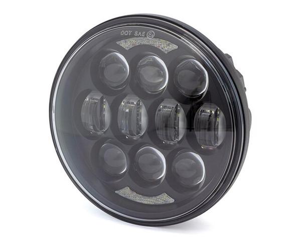 "Motorbike Headlight Insert - Projector LED - 5.75"" / 80W for Harley Davidson Sportster & Dyna Models"
