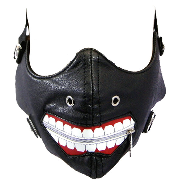 Joker Face Mask - Motorcyclist Bike Riders Bikers - PU Synthetic Leather