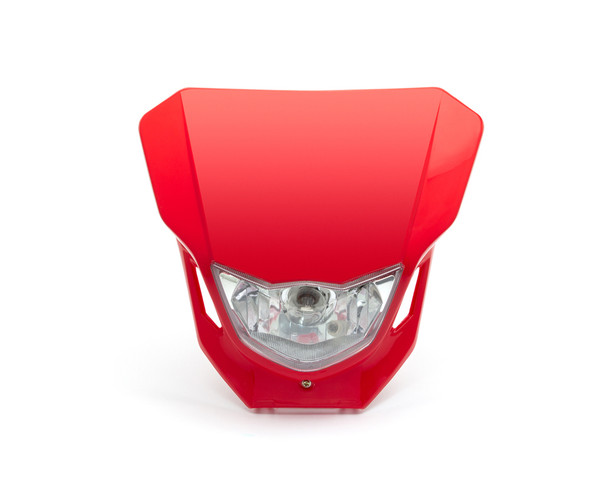 Motorbike Headlight Mask - Supermoto & Streetfighter - Red - 12V 35W
