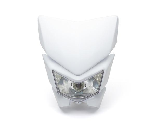 Motorbike Headlight Mask - Streetfighter & Supermoto - White - 12V 35W