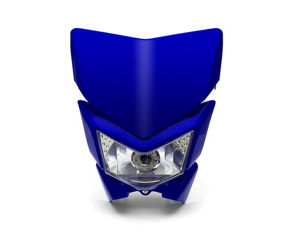 Motorbike Headlight Mask - Streetfighter & Supermoto - Blue - 12V 35W