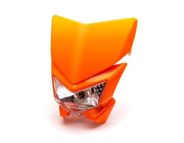 Motorbike Headlight Mask - Streetfighter & Supermoto - Orange - 12V 35W