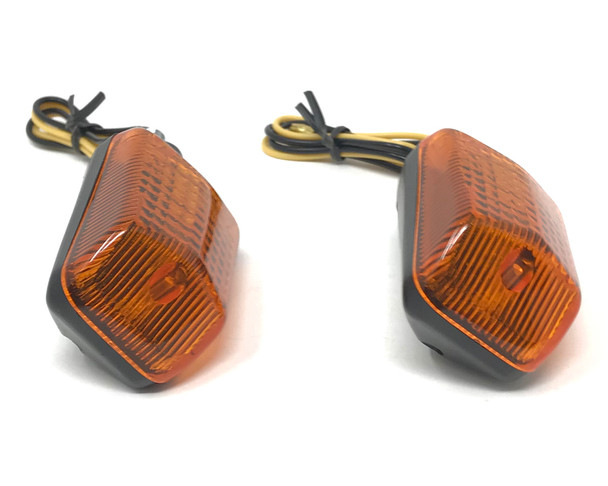 Motorbike 21W Indicators - PAIR - Amber Lens for Street Bikes & Commuter Bikes
