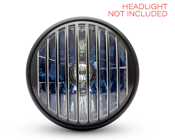 "Thin Prison Grill 7"" INCH Motorbike Headlight Cover Guard for Cafe Racer Scrambler Project Retro"
