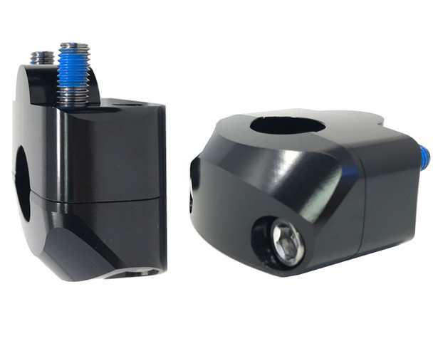 "Handlebar Risers for 22mm 7/8"" Bars with 20mm Rise - GLOSS BLACK"